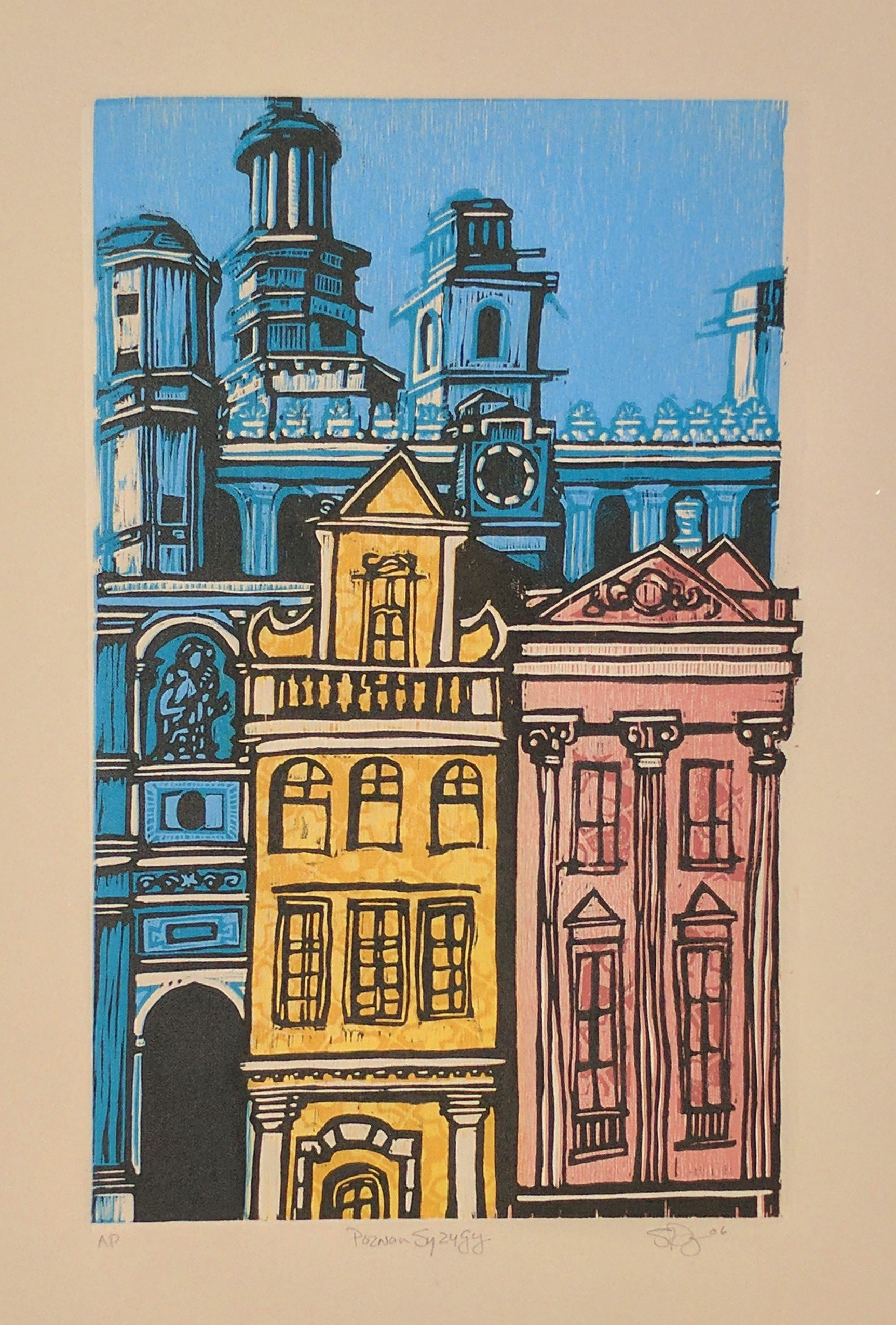 Linoleum Block Printing Can Create Unlimited Color Combinations And Multiple Impressions
